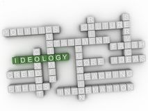 3d Ideology Concept word cloud. 3d Ideology issues concept word cloud background Stock Photography