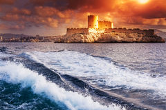 D'If del castillo francés, Marsella, Francia Imagenes de archivo