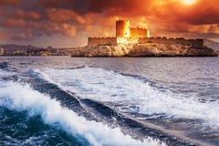 D'If do castelo, Marselha, França Imagens de Stock