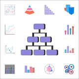 3d ikony drzewo Szczegółowy set map & Diagramms ikony Premii ilości graficznego projekta znak Jeden inkasowe ikony dla websi Obraz Royalty Free