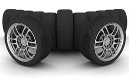 3d ikony sporta samochodowi koła Pojęcia design ilustracja wektor