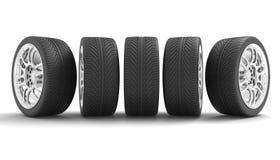 3d ikony sporta samochodowi koła Pojęcia design ilustracja 3 d, ilustracji