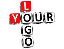 3D il vostro Logo Crossword Fotografia Stock Libera da Diritti