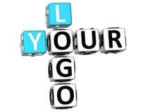 3D il vostro Logo Crossword Fotografia Stock