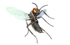 金属化在与裁减路线, 3D的白色隔绝的机器人昆虫illu 免版税库存照片