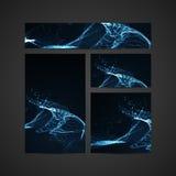 3D illuminated abstract digital wave Royalty Free Stock Image
