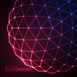 3D illuminated sphere of glowing particles Stock Photos