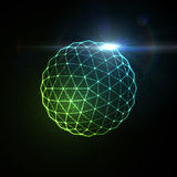 3D illuminated sphere Stock Photography