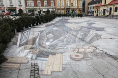 3d illusionary obraz, rzeźby w Wielickim i fotografia royalty free