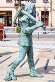 3d illusionary painting and sculptures on main market square, Wi Stock Image