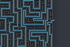 3d illusrated Labyrinth lokalisiert auf dunklem Hintergrund Veranschaulichung 3D Vektor Abbildung
