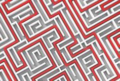 3d illusrated Labyrinth lokalisiert auf weißem Hintergrund Veranschaulichung 3D Stock Abbildung