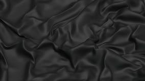 3D Illustratie Abstracte Zwarte Doek Als achtergrond Stock Afbeeldingen
