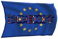 3D-illustratie Concept Brexit Engeland en de EU royalty-vrije illustratie
