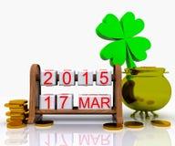 St. Patrick 3D Dag - Royalty-vrije Stock Foto's
