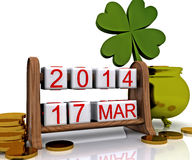 St. Patrick 3D Dag - Stock Foto