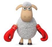 3d illustratie grappige schapen Royalty-vrije Stock Foto