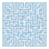 3D Illustratie het labyrint, labyrint hoogste mening stock illustratie