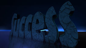 3D Illustratie: Het woordsucces Royalty-vrije Stock Afbeeldingen
