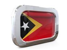 3D illustratie Knoopvlag van de de Oost- van Timor Stock Foto's