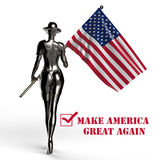 3D Illustratie Modieuze cyborg de vrouw royalty-vrije illustratie