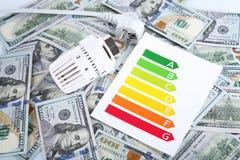 3d illustratie op witte achtergrond Verwarmend thermostaat en diagram Stock Afbeeldingen