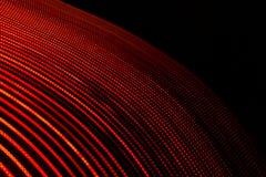 3D Illustratie Rode abstracte lichten op zwarte achtergrond Gebogen die patronen door lijnen worden gevormd Futuristisch ontwerp royalty-vrije illustratie