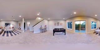 3d illustratie sferische 360 graden, naadloos panorama van een huis royalty-vrije illustratie
