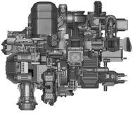 3d illustratie van abstracte industriële materiaaltechnologie Stock Foto's