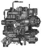 3d illustratie van abstracte industriële materiaaltechnologie Stock Afbeeldingen