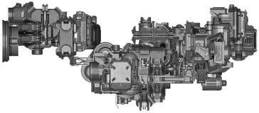 3d illustratie van abstracte industriële materiaaltechnologie Royalty-vrije Stock Fotografie