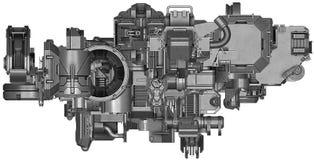 3d illustratie van abstracte industriële materiaaltechnologie Stock Fotografie