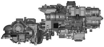 3d illustratie van abstracte industriële materiaaltechnologie Royalty-vrije Stock Afbeeldingen