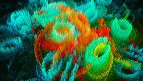 3D illustratie van abstracte macro geeft structuur terug Royalty-vrije Stock Fotografie