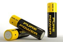 3d illustratie van batterijen Royalty-vrije Stock Fotografie