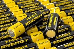3d illustratie van batterijen Royalty-vrije Stock Foto