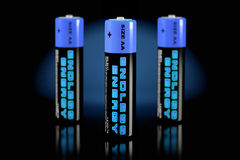 3d illustratie van batterijen Stock Fotografie
