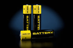 3d illustratie van batterijen Royalty-vrije Stock Foto's