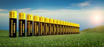 3d illustratie van batterijen Royalty-vrije Stock Afbeelding