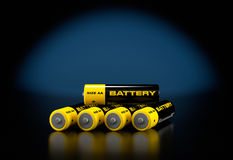 3d illustratie van batterijen Stock Afbeelding