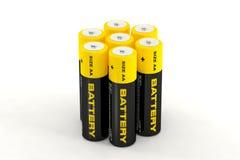 3d illustratie van batterijen Stock Illustratie