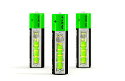 3d illustratie van batterijen Royalty-vrije Stock Afbeeldingen