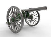 3d illustratie van burgeroorlogkanon Royalty-vrije Stock Afbeelding