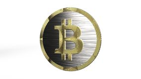 3D illustratie van Cryptocurrency Bitcoin stock afbeeldingen