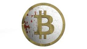 3D illustratie van Cryptocurrency Bitcoin stock fotografie