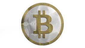 3D illustratie van Cryptocurrency Bitcoin stock foto's