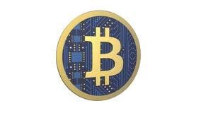 3D illustratie van Cryptocurrency Bitcoin royalty-vrije stock afbeeldingen