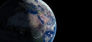 3d illustratie van de aardeplaneet Royalty-vrije Stock Foto's