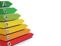 De efficiencyachtergrond van de energie Stock Afbeeldingen