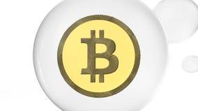 3D illustratie van de Bel van Cryptocurrency Bitcoin royalty-vrije stock afbeeldingen